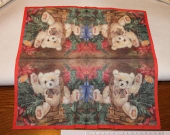 Teddy bear Christmas towel