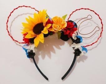 Jessie inspired Floral Minnie Ears