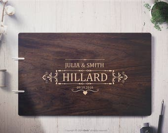 Custom Wedding Guest Book Wedding guest book alternative Surname wedding guest book wood guest book Wedding guestbook Personalized guestbook