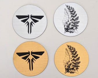 The last of us inspired custom namenumber firefly pendant the last of us magnet metallic silver or gold fireflies symbol and ellies tattoo mozeypictures Gallery