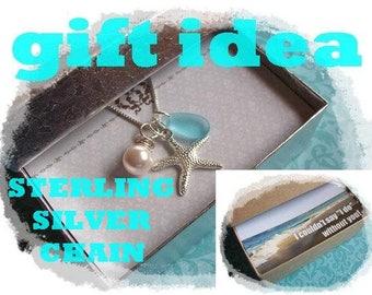 SILVER STARFISH NECKLACE - Starfish Necklace, Starfish Jewelry, Starfish Necklaces, Bridesmaid Jewelry, Beach Weddings, Bridesmaid Necklace