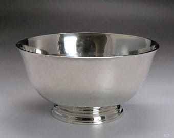 1938-1957 Arthur Stone Associates Handwrought Sterling Silver Revere Bowl / Dish
