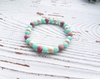 Essential oil bracelet, diffuser bracelet, amazonite bracelet, essential oil jewelry for women, wood bracelet, aromatherapy bracelet