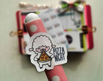 Pizza Night Planner Stickers, Bitsy ,  Character stickers, Functional Planner Stickers
