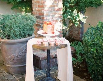 silk runner | peach wedding | wedding tablecloth | chiffon table runner || wedding cake table | wedding runner | table decor | Wedding