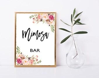 Mimosa bar sign, mimosa bar, printable mimosa bar , mimosa sign. bubbly bar, mimosa, bridal shower mimosa, mimosa bar print, mimosa bar, #2