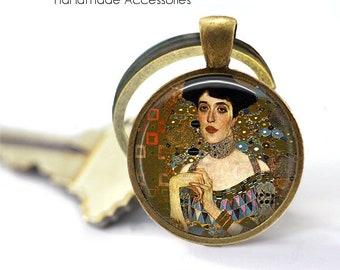 GUSTAV KLIMT Key Ring • Women in Gold • Klimt Art • Vintage Klimt Art • Klimt Print Jewellery • Gift Under 20 • Made in Australia (K551)