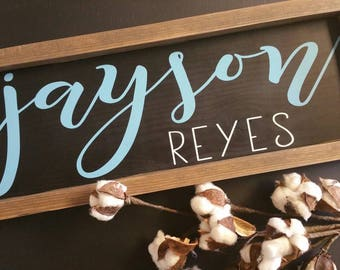 Nursery name sign|kids name sign|nursery decor|kids decor|custom sign|wood sign|rustic sign