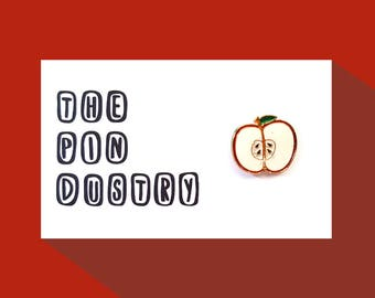 Apple Pin Badge #ThePindustry Pin Badges