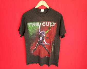 vintage The Cult  heavy metal rock music concert t shirt