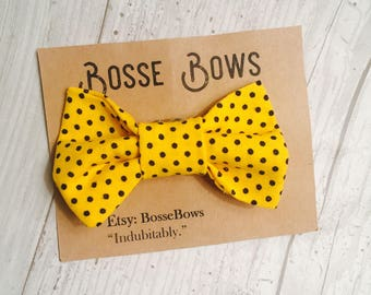 Baby bowtie, yellow bow tie, Toddler bow tie, Kids bow tie, baby boy bow tie, clip on baby bowtie, bow tie, clip on bow tie, newborn bow tie