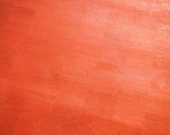 Red Cork Surface Fabric