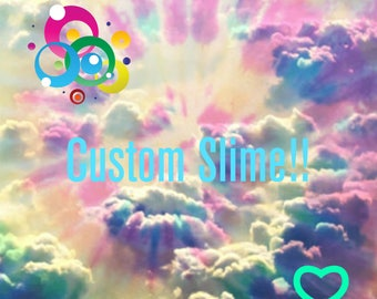 Custom slime with 3 add ins!!