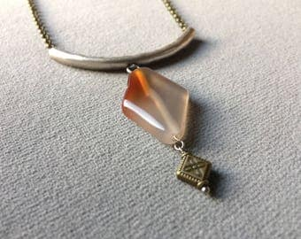 the agate diamond necklace
