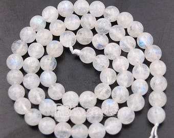 Natural White Moonstone Beads, Wholesale Gemstone Beads, Jewelry Moonstone beads, Round Moonstone Spacer Beads, 4mm 6mm 8mm 10mm 12mm