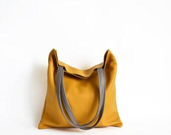 Leather tote bag - Yellow leather tote - Full grain leather tote - Tote bag leather - Tote bag - Leather Bag - VENEZIA Bag