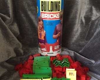 Vintage 60's M-I Toys building bricks block set toy