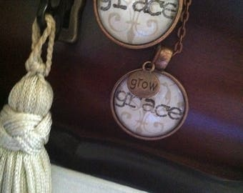 Stamped Grace Pendant Necklace