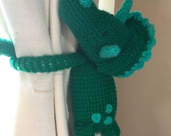 Dinosaur curtain tie backs