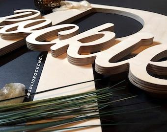 Large Wood Letter, Wedding Letter, Wood Sign, Custom Made Wedding Sign, Wedding Name Sign, Wedding Decor, Wedding sign, custom wedding sign