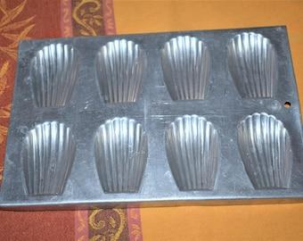French madeleine pan, vintage aluminium
