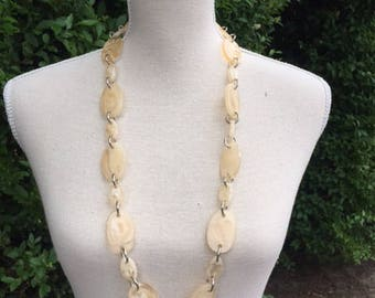 Necklace with a mix of transparent beads. Hand-made with lobster clasp.
