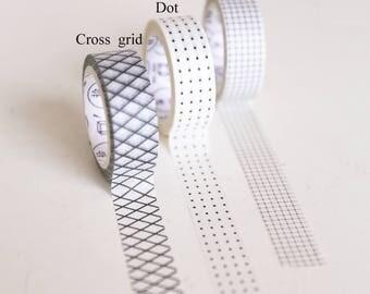 Retro Black Grids Washi Tape/Striped Washi / Masking tape/ japanese washi tape/Planner Supplies