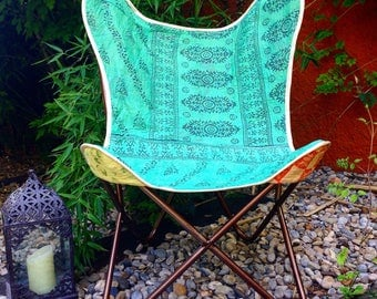 Replacement Cover for Butterfly boho chair - Vintage fabrics