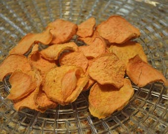 Healthy Dehydrated sweet potato chip snacks for small animals