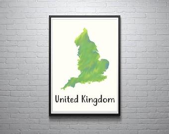 United Kingdom Art Digital Print (Printable)