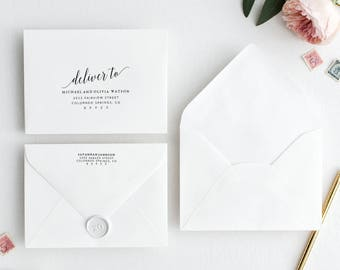 Wedding Envelope Template | Printable Wedding Envelope Template | Editable Wedding Envelope | DIY Wedding Envelope Address Template | Script