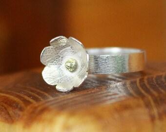 Valeria Sterling Silver Flower Ring