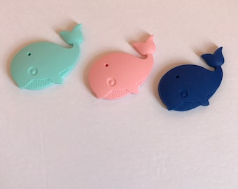 Whale teething toy
