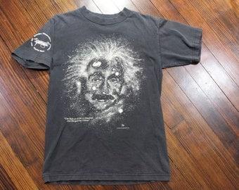 Vintage 90s Albert Einstein Black 1993 Arecibo Observatory T-Shirt Size Small