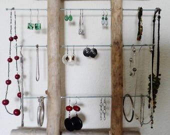 Wear jewelry wall display Driftwood