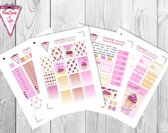 Sweet Paradise - Printable Erin Condren Weekly Kit w/Cut Line