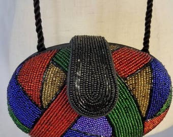 Y&S multicolored beaded clutch