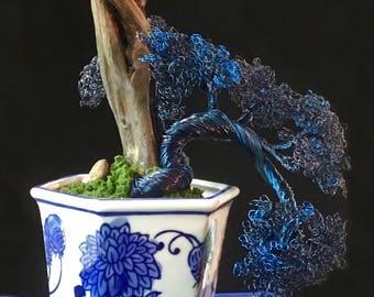 Custom Made Wire Bonsai Tree Sculptures Handmade Art Trees Sculpture Decor for Home & Living Gift Housewarming Unique Birthday Most Popular