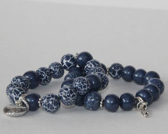 Ladies bracelet set, polymer clay, handmade