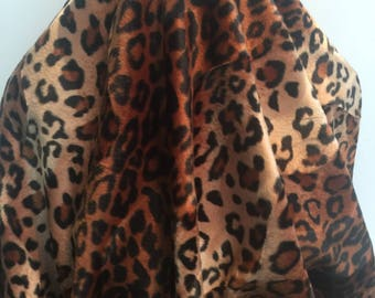 Leopard Shaved Faux Fur Knit Backed- Sold by the Yard