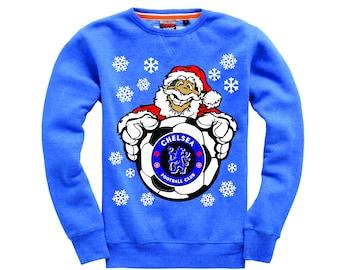 Christmas Sweatshirt Chelsea Santa with Football