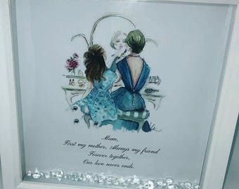 Mother's Day mother and daughter frame
