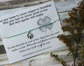 Claddagh Wish Bracelet, Wish Upon Your Wrist, Wish Bracelet, Celtic Jewelry, Irish Bracelet, Claddagh Jewelry, Claddagh Bracelet, Irish Gift