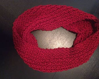 Women's Red Infinity Scarf