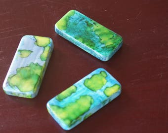 Cute Magnets, Set of 3, Painted Ceramic Magnets, Fridge Magnets, Painted Magnets, Refrigerator Magnets, Unique Magnets, Party Favor Magnets