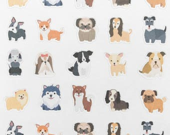 Dog breed planner stickers, dog stickers, pet stickers, vet stickers