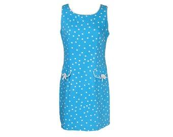 Vintage 90s Mini Dress // 90s Does 60s // Mod //  M