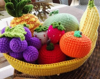 crochet play fruit 8 pieces play food