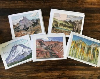 Greeting Cards | Variety Pack | Holiday Cards | Watercolor Cards | Blank Inside