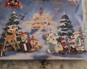 Disneyland Paris 20th Christmas 4 pin set
